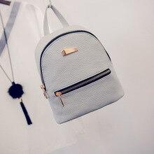 Fashion font b Women b font Mini Backpack PU Leather College Shoulder Satchel School font b