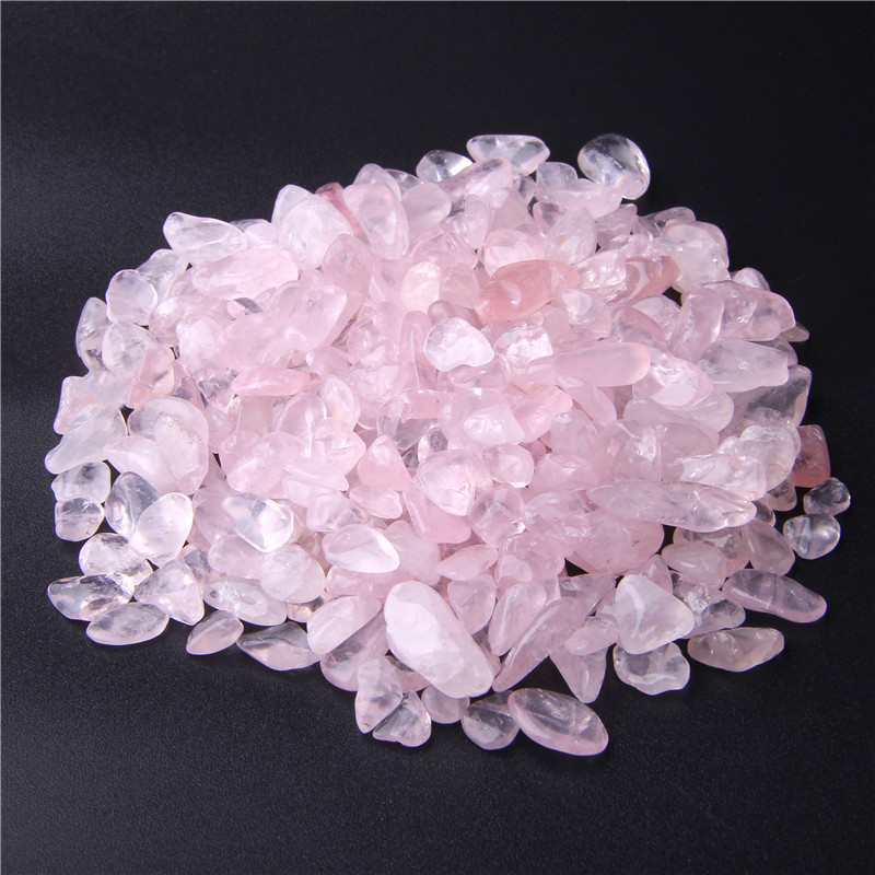 Natural Pink Roses Quartz Crystal Stone Gravel Beads Rock Chip Beads Lucky Healing Natural Stone And Minerals Health Decoration