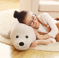 Fancytrader Large Emulational Animal Sea Lion Plush Soft Toy Big Stuffed Cartoon Seal Doll Pillow Kids Present 47inch 120cm