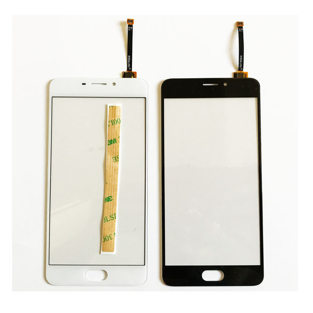 """5.5 """" Mobile Phone Touch Panel Glass For Meizu M5 Note Touch Screen Digitizer Sensor Front Lens With 3M Adhesive Tape"""