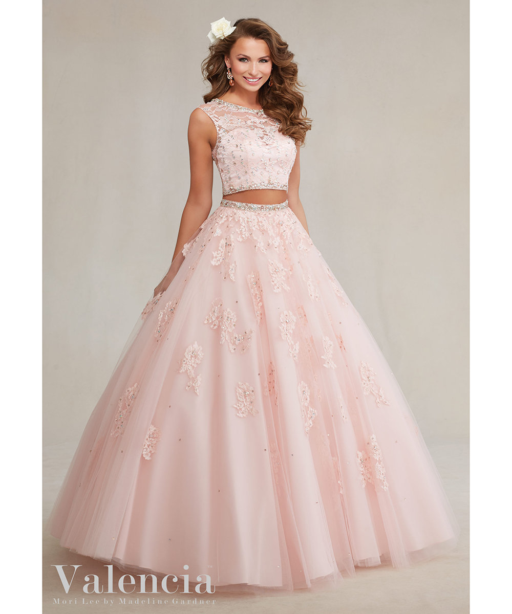 Two Piece Quinceanera Dresses Cheap Debutante Sweet 16 Dresses Navy ...