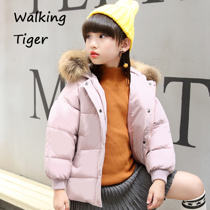 Girls down jacket fashion clothing winter girl Outerwear thick cotton 2017 new children warmer Coats lavensey original new children thick cotton turn down collar fashion coats for girl baby clothing free shipping