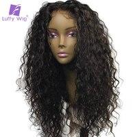 Луффи вьющиеся человеческих 5x4,5 шелк базы Full Lace парик бесклеевого с ребенком волос предварительно сорвал натуральных волос не реми бразиль