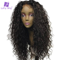 Curly Human Hair 5x4.5 Silk Base Full Lace Wig Glueless With Baby Hair Pre Plucked Brazilian Remy Hair Bleached Knots Luffy