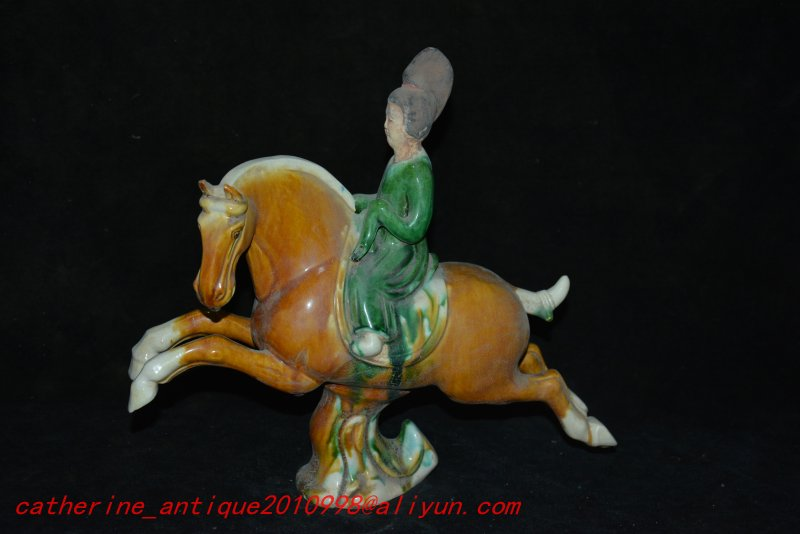 Old Tang Dynasty(680--880) procelain statue / sculpture,Tang Sancai,Maid riding ,Handmade crafts,collection& adornmentOld Tang Dynasty(680--880) procelain statue / sculpture,Tang Sancai,Maid riding ,Handmade crafts,collection& adornment