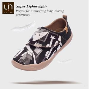 Image 3 - Uin ace & pedro design 어린이를위한 손으로 그린 캐주얼 플랫 슈즈 hook & loop comfort flats 소년/소녀 야외 운동화