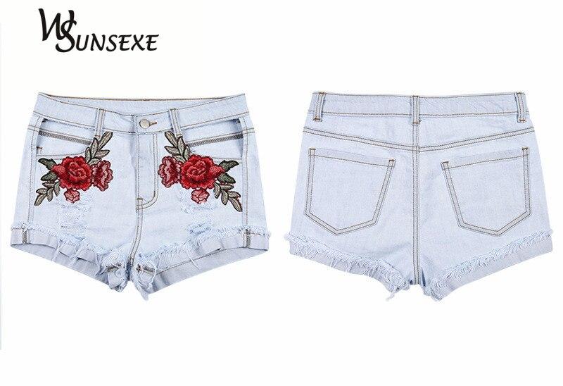 HTB1tKp1RpXXXXaYXFXXq6xXFXXXm - High Waist Shorts Denim Jeans Embroidery PTC 265