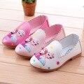 Elegantes sapatos de couro anime rainha da neve elsa anna menina padrão low-salto alto sapatos para 2-5yrs menina criança do sexo feminino princesa sapatos quente