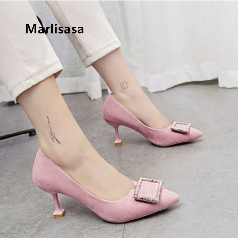 Pompes Femmes Women Cute Sweet Light Weight Comfortable Pink Office High Heels Lady Sexy Party High Heel Shoes & Pumps G5399