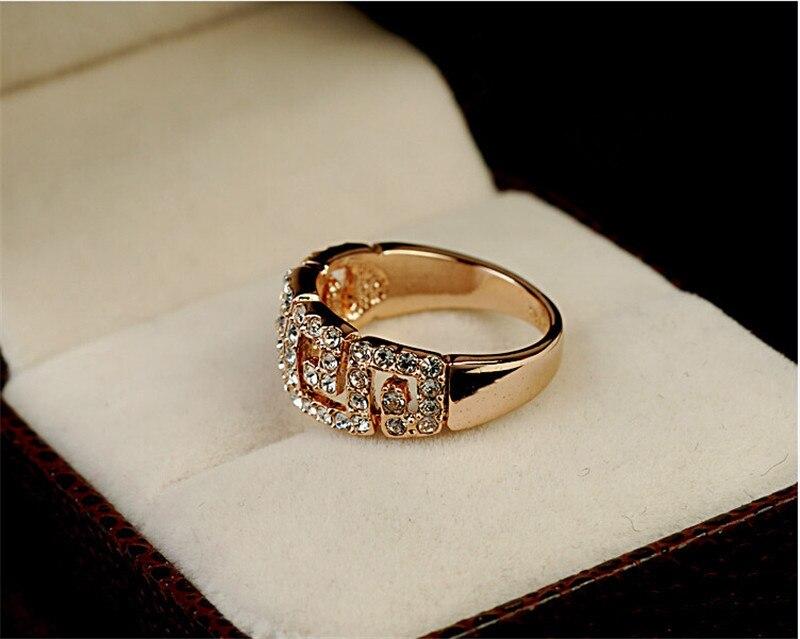 Z4 2015 New fashion 18K Rose Gold Plated Greek Box Design Crystal ...