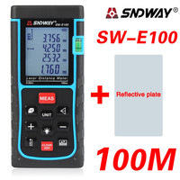 SNDWAY SW E100 Digital 40 100m328ft 3937in Laser Distance Meter Level Tape Measure Area Volume Tool