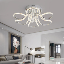 купить LICAN Modern LED Ceiling Lights Chrome Finished for bedroom luminaire plafonnier LED Lustre Ceiling lamp for home Living Room дешево