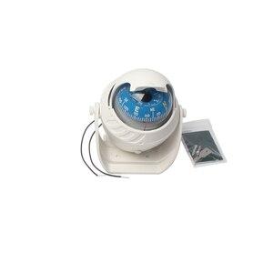 Image 4 - Luz LED de 12V para barco de mar, brújula para barco, vehículo, barco, coche, indicador, blanco y negro