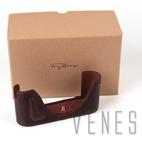 VENES Professional Leather Camera Bottom Case Cover Half Body Set Protector Bag For Leica M P (Typ 240) (Brown)