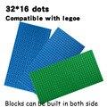 2016 pequeños bloques de construcción diy placa base placas base 32*16 dots tamaño 25*12.7 cm juguetes compatible con grandes bloques de marca