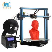 Дешевые 3D-принтеры creality 3D CR-10 мини большой принт Размеры 300*220*300 мм 3D-принтеры DIY Kit с подогревом + Стекло пластины + бесплатная нитей