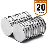 Strong Neodymium Disc Magnets with Double Sided Adhesive, Powerful, Permanent Rare Earth Magnets Fridge DIY Scientific Magnets