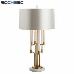 Nowoczesne  minimalistyczne lampki nocne lampa stołowa z marmurową podstawą Lampe de chevet badania Hotel dekoracje szklane metalowe lampy do sypialni H77cm