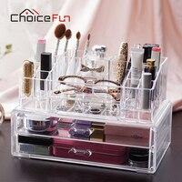 Choice fun güzellik akrilik makyaj organizatör saklama kutusu 2 çekmece büyük kozmetik plastik kutu kat organizasyon sf-20143-2