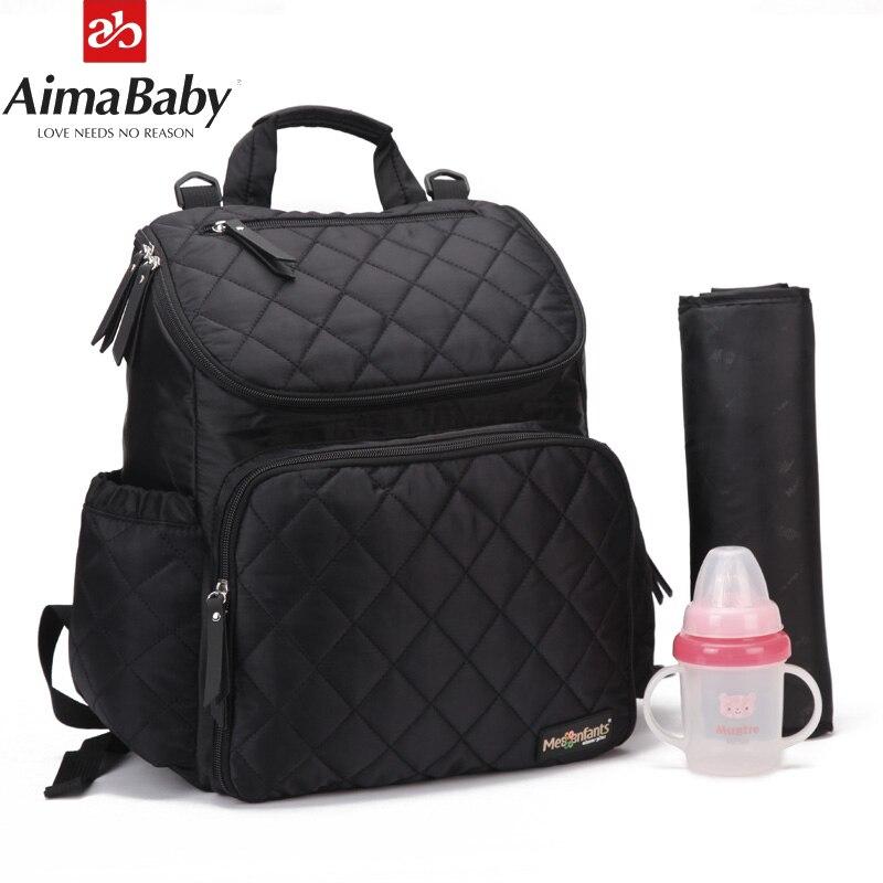 AIMABABY Diaper Bag Fashion Mummy Maternity Nappy Bag Brand Baby Travel Backpack Diaper Organizer Nursing Bag