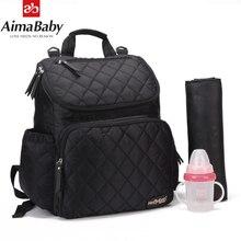 AIMABABY Bolsa de pañales de moda, bolsa de pañales de maternidad, mochila de viaje para bebé, organizador de pañales, bolsa de lactancia para cochecito de bebé