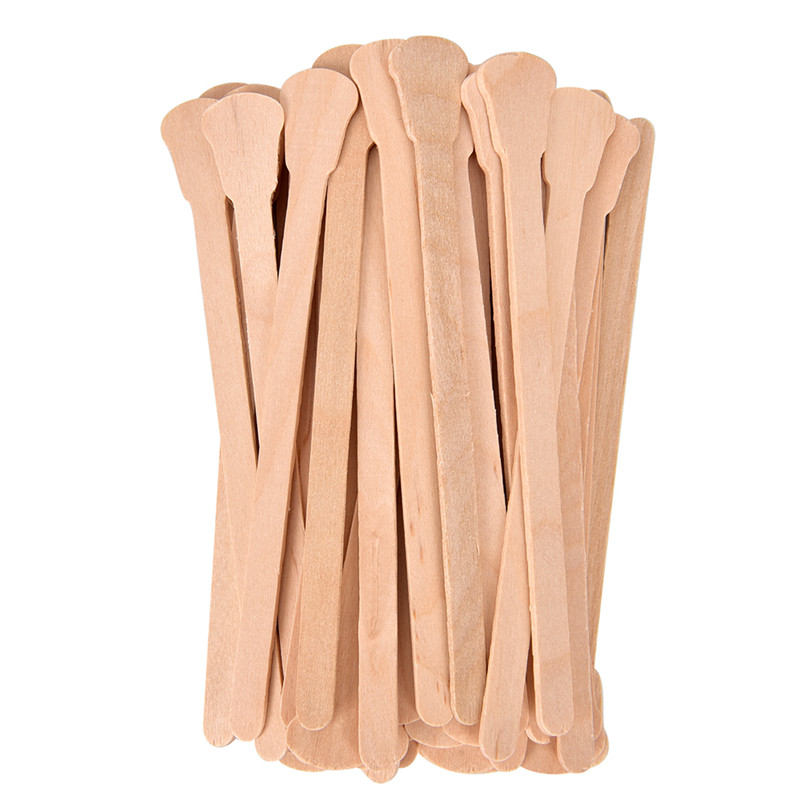 50Pcs/lot Disposable Hair Removal Cream Stick Wooden Waxing Wax Spatula Tongue Bamboo Sticks For Waxing Body Hair Care
