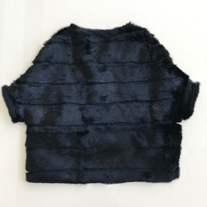 Image 5 - Abrigo de piel de conejo para mujer, chaqueta de piel de manga de murciélago, abrigo de piel Real holgado corto Rosa Natural para mujer WSR451