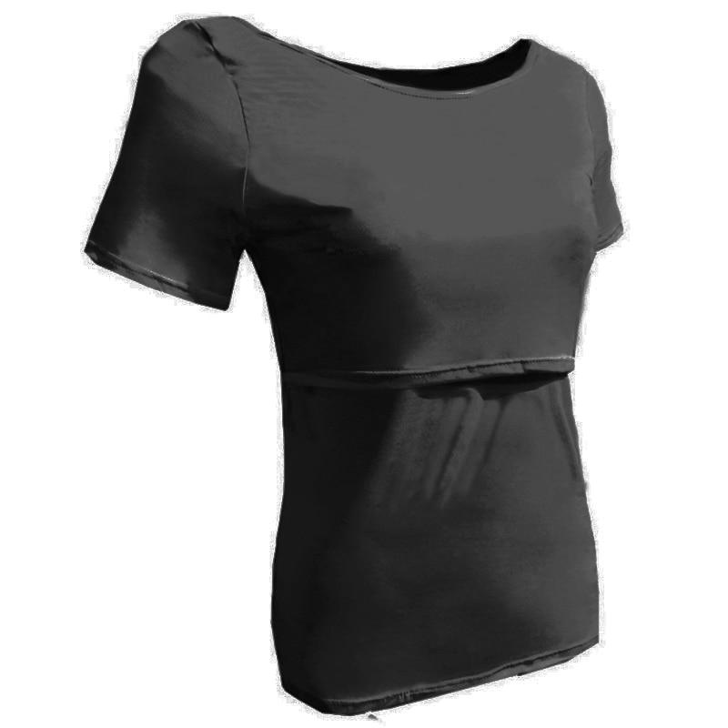 Maternity T-shirts Kläder för gravida kvinnor Sommar Lactating Mothers Nursing Breastfeeding Kläder Klänningskjorta Toppmatning