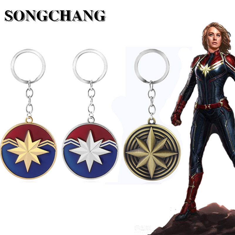 20PC/LOT Wholesale Movie Captain Keychain Ms. Carol Danvers Shield Keyrings Avenger Chaveiro Jewelry-in Key Chains from Jewelry & Accessories on AliExpress - 11.11_Double 11_Singles' Day 1