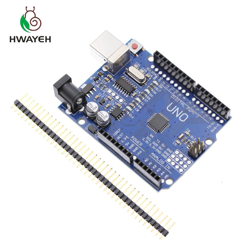 high quality One set HWAYEH UNO R3 CH340G+MEGA328P Chip 16Mhz for arduino UNO R3 Development board (NO USB CABLE) MEGA 2560 R3 uno r3 i o isp 3 3v 5v atmega328p development mega328p atmega16u2 board for arduino module compatible with usb cable