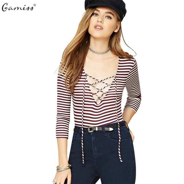 6dab93a3c99c Gamiss Women Fashion Bodysuit Bodycon Jumpsuit Overalls Sexy Plunging Neck  Criss-cross Design Long Sleeve