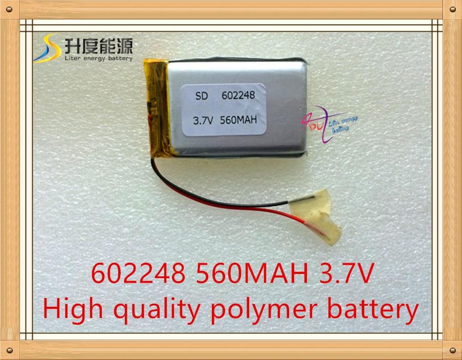 3.7V 560mAh 602248 Lithium Polymer Li-Po Rechargeable li ion Battery For Mp3 MP4 MP5 GPS ...