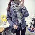 Де DoveMs. однобортный кардиган свитер свитер платье зимнее пальто женский короткий параграф свитер пальто Корейского приливной дикий