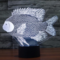 Paper-cut Fish 3D Building Light Touch USB Table Lampara as Beside Lamp 7 Color Changing Nightlight for Kids Mood Lamp Xmas Gift