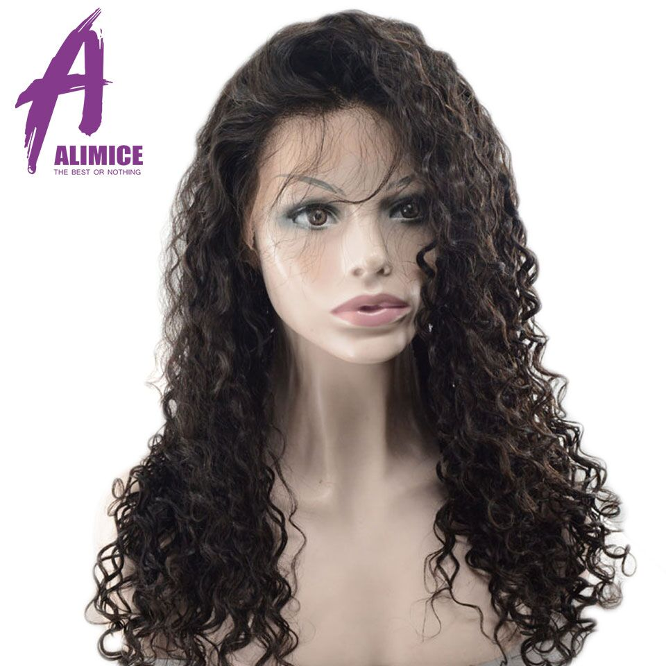 Alimice Hair Water Wave 360 Lace Frontal Wigs Brazilian Remy Full End Human Hair Wigs With Baby Hair Pre-Plucked With Baby Hair (8)