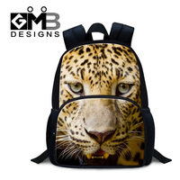 Dispalang 3D lifelike printing leopard book bags animal boys school bagpack 12 inch kindergarten felt backpacks kids schoolbags
