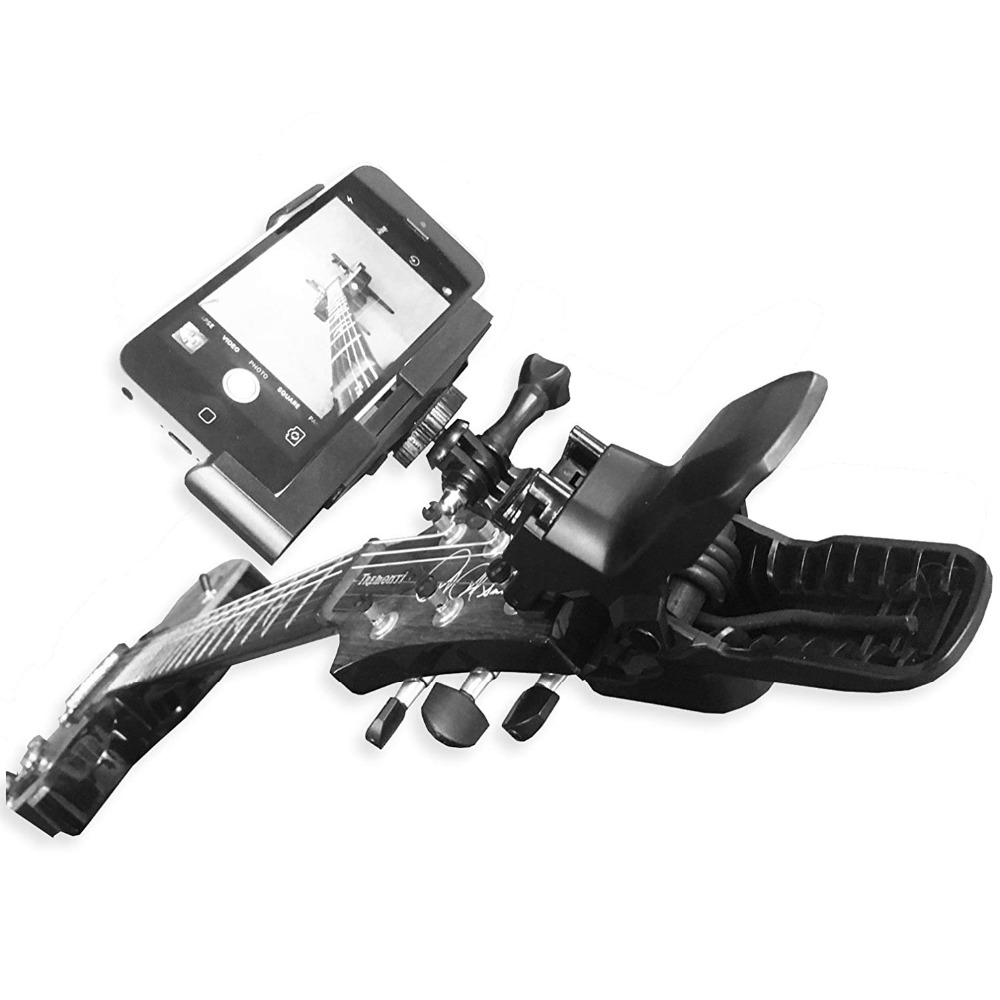 Image 4 - Guitar Headstock Cell Phone Clamp Clip Mount for Smartphones and Gopro Action Cameras   Close Up Home Recording-in Sports Camcorder Cases from Consumer Electronics