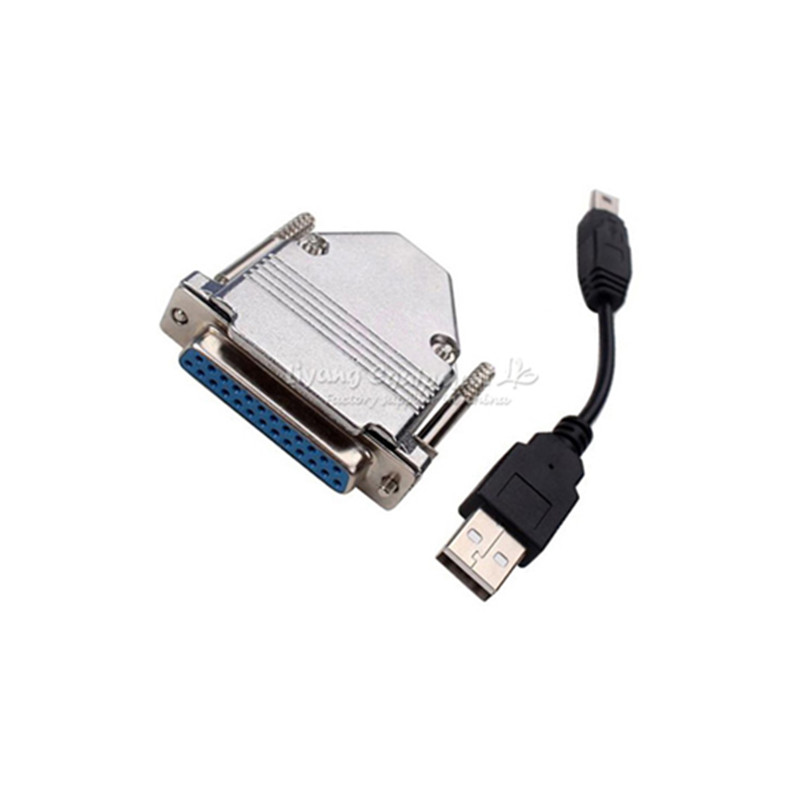 USB to Parallel Adapter USB CNC Router Controller For MACH3 LY-USB100 UC100 ly usb200 cnc mach3 parallel port to usb converter adapter 6 axis controller mach3 lpt port to usb