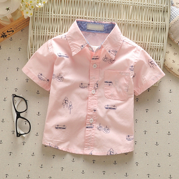 1-3 year baby boys shirts 2017 summer 100% cotton kids clothes casual short-sleeve children tops wear vetements pour enfants