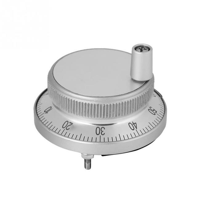 1 Pcs CNC מחולל דופק ידני CNC דופק מקודד 5V 60MM יד גלגל דופק מקודד מיל נתב ידני בקרת עבור CNC מערכת