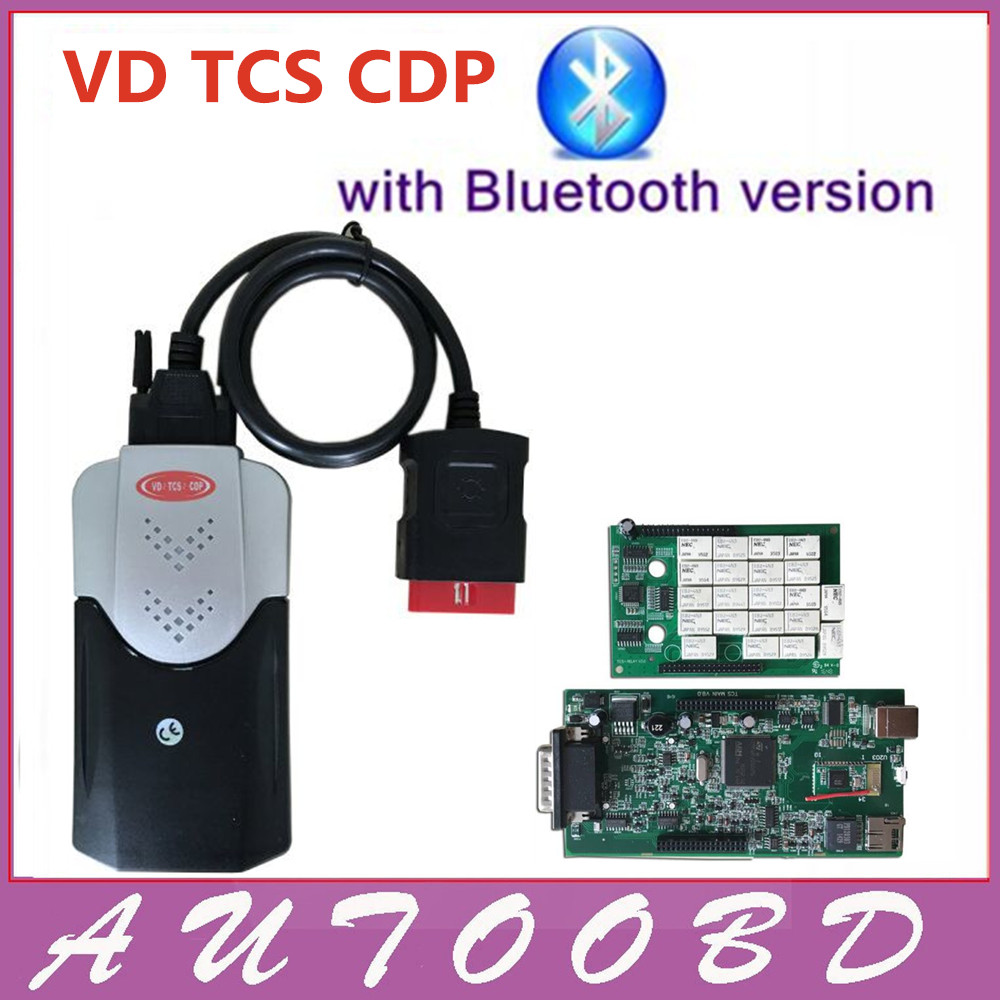 New Outward Appearance VD TCS CDP Pro New Vci Green Board PCB Chip 8.0 OBDII OBD2 For Cars/Trucks/Generic 3 in 1 Diagnostic Tool new arrival new vci cdp with best chip pcb board 3 0 version vd tcs cdp pro plus bluetooth for obd2 obdii cars and trucks