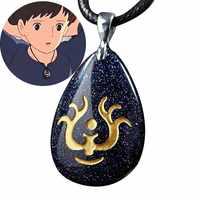 Hayao Miyazaki Series Laputa Flying Stone Castle In The Sky Pendant Necklace for Girl Gift Japanese Anime Costume Jewelry