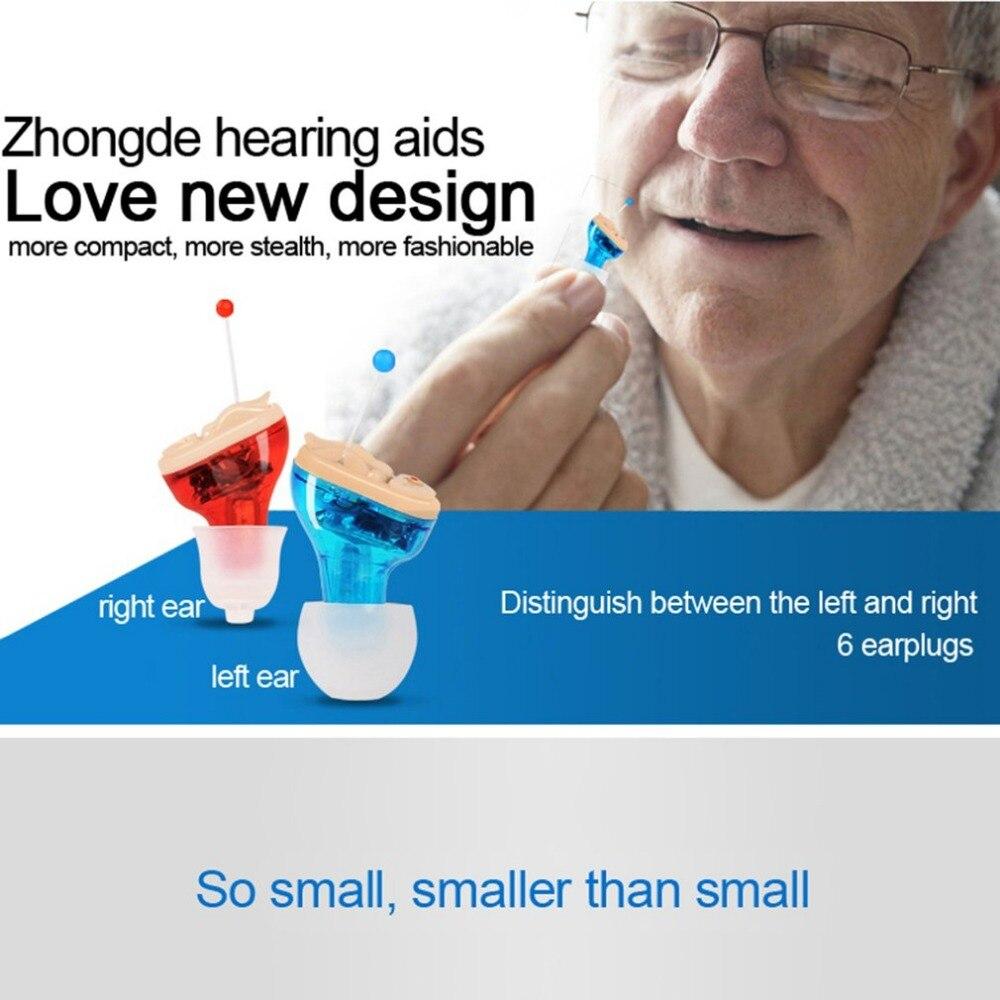 Nouvelle petite oreille intérieure aide auditive Invisible réglable sans fil Mini CIC aides auditives gauche/droite oreille meilleur amplificateur sonore