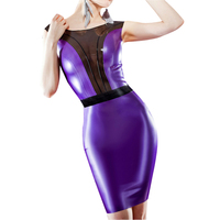 Latex dress for women fetish dresses sexy natural and handmade tight multi colors charming lady