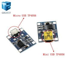 GREATZT 1PCS USB 5V 1A TP4056 Lithium Battery Charger Module Charging Board With Protection Dual Functions 1A Li-ion