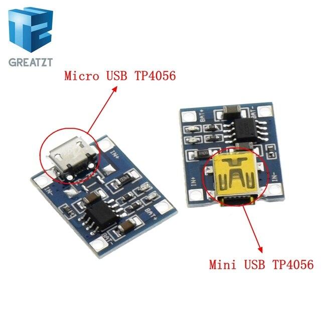 GREATZT 1 ピース USB 5 ボルト 1A TP4056 リチウムバッテリー充電器モジュール充電ボード保護デュアル機能 1A リチウムイオン