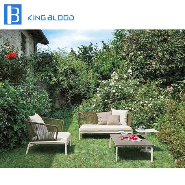 US $550.0 |Outdoor furniture 3 seater aluminum frame round rope sofa set  for garden-in Garden Sofas from Furniture on Aliexpress.com | Alibaba Group