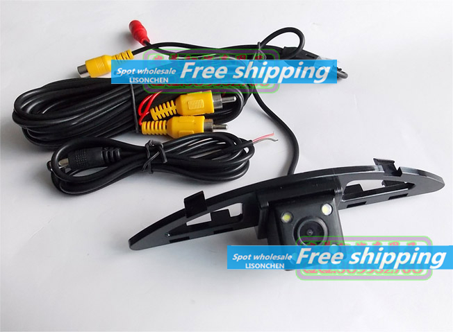 For Honda City exclusive 170 degree high definition CCD rear view camera with LED lights and