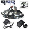 Waterproof Headlamp 3*XML T6 8000 Lumens 4 Mode LED Headlight Hunting Spotlight Lamp Bike Head Light for Bicycle Cycling