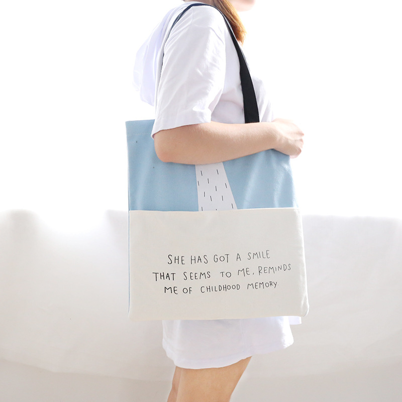 где купить Casual New Tote Canvas Shoulder Bag For Women Large Capacity Fashion Shopping Bag Beach Bags Casual Tote Student School Bags по лучшей цене